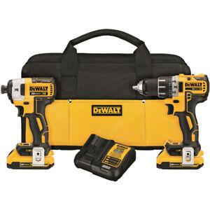 DEWALT-20V-MAX-XR-2-0-Ah-Li-Ion-2-Tool-Combo-Kit-DCK283D2-New