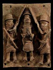 ** Bronze Relief Platte / Nigeria, Benin ** 3,8 kilo **