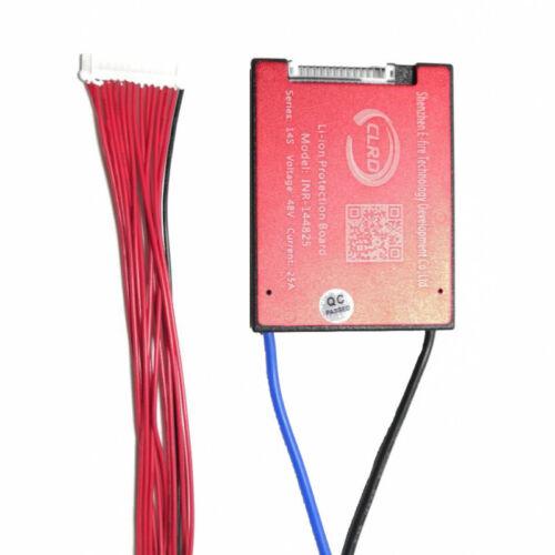 Balanced BMS14S 48V 25A 35A 45A 60A LI ION Polymer Battery PCB PCM for E-bike