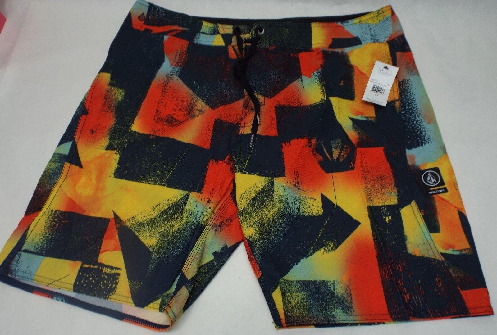 New Mens 38 VOLCOM   EX Zess   Multi color Boardshorts Retail
