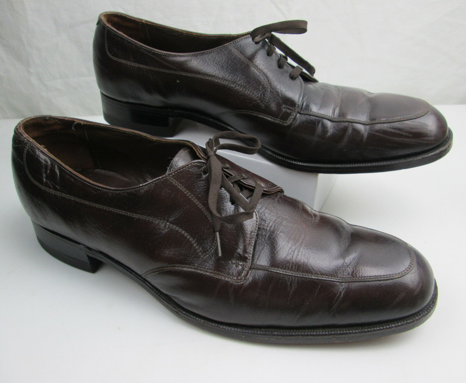 Vintage Brown Florsheim Dress shoes 13 B Lace Up bluechers Model 31884 PREOWNED