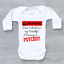 miniature 2 - Warning Don't Check Daddy Mummy Is PSYCHO! Funny Baby Grow Body Suit Vest