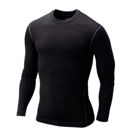 Mens Base Layer Tee Gym T Shirt Long Sleeve Compression Under Muscle Tops Blouse