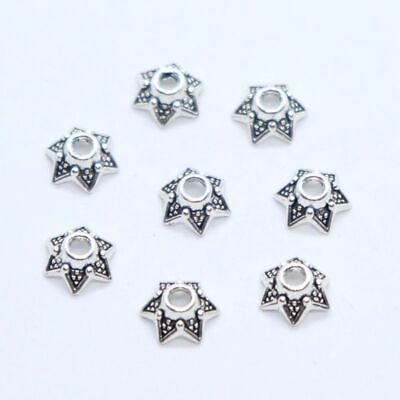 Free Ship 200Pcs Tibetan Silver Beautiful Flower Beads Caps 5x3mm