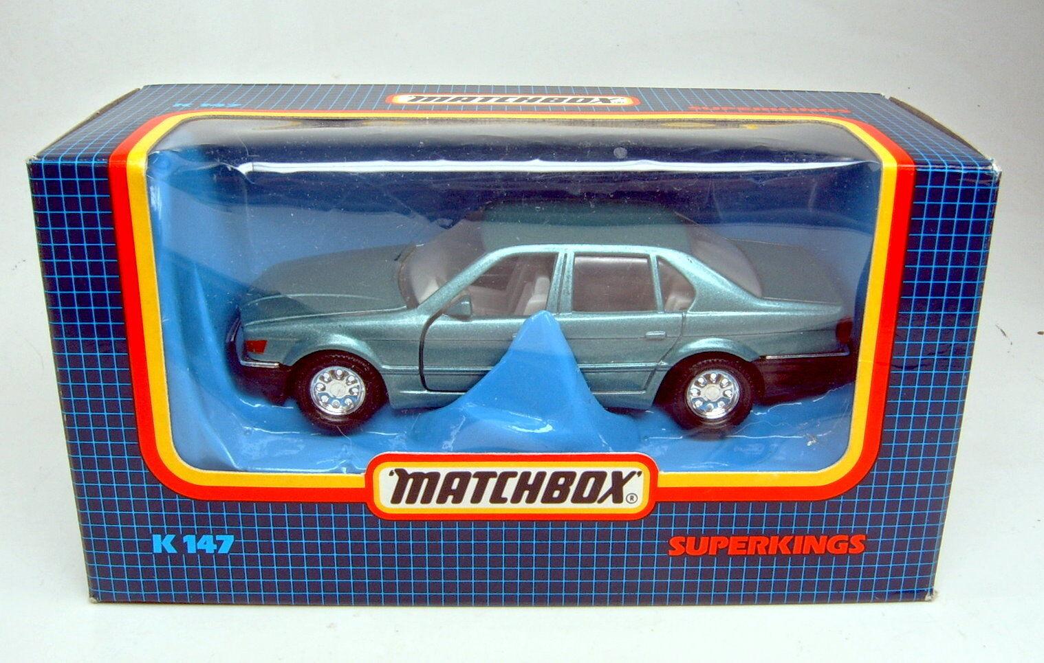 MATCHBOX SUPERKING k-147 BMW 750 il bleumetallic Top Dans Box