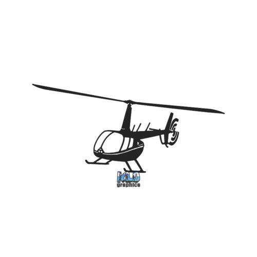 ROBINSON R44 Sticker In FLIGHT Light Helicopter General AVIATION GA AVIATOR