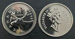 Canada-1998-Proof-Like-Gem-Twenty-Five-Cent-Piece