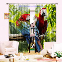3d Tree Parrots 51 Blockout Photo Curtain Printing Curtains Drapes Fabric Window