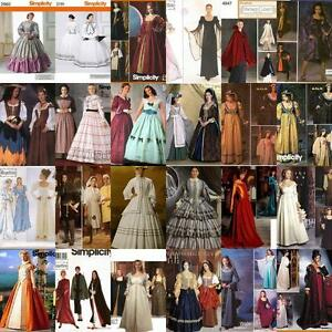 Renaissance-Costume-Historical-OOP-Simplicity-Sewing-Pattern-Ladies-Misses-Women