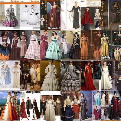 Renaissance Costume Historical OOP Simplicity Sewing Pattern Ladies Misses Women