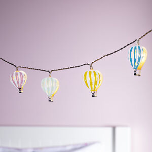 Details zu 12er LED Ballon Lichterkette Kinderzimmer Beleuchtung Timer  Batterie Lights4fun