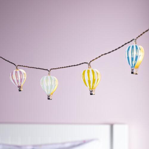 12er LED Ballon Lichterkette Kinderzimmer Beleuchtung Timer Batterie Lights4fun