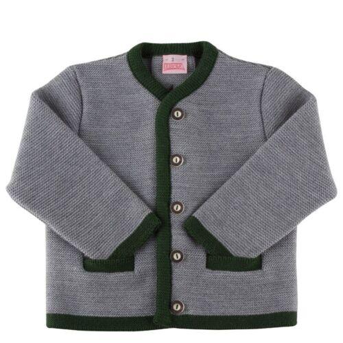 Strickjacke Jacke Kinder Trachtenjanker mit 2 Taschen Rückenfalte LUSANA