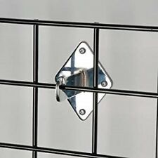 Gridwall Wall Mount Bracket Grid Panel Mounting Brackets Chrome 4 Pieces