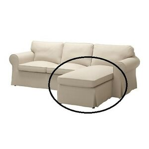 ikea ektorp bezug f r 2er sofa mit r camiere nordvalla dunkelbeige ebay. Black Bedroom Furniture Sets. Home Design Ideas