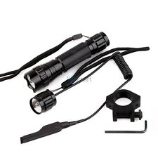 1000Lm LED Tactical Flashlight Torch Pressure Switch with Picatinny Rail Mount