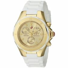 Michele Tahitian Jelly Bean Women's Gold White Silicone Watch MWW12F000031