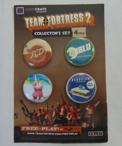 New-Team-Fortress-2-Loot-Crate-Exclusive-4-Pack-Collector-039-s-Set-Buttons-Pins