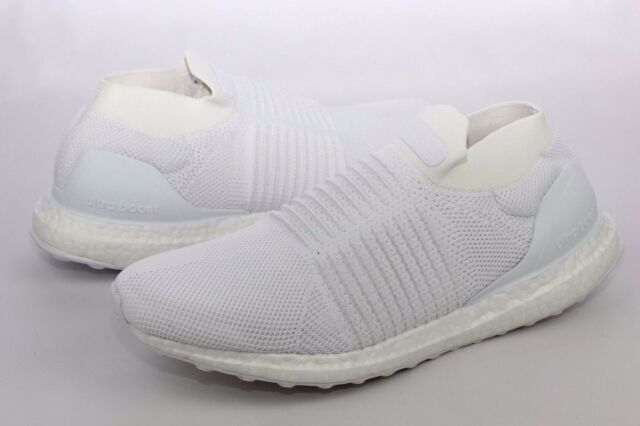 8a4094a81 adidas Ultraboost Laceless White Running Shoes Mens Size 11.5 S80768 ...