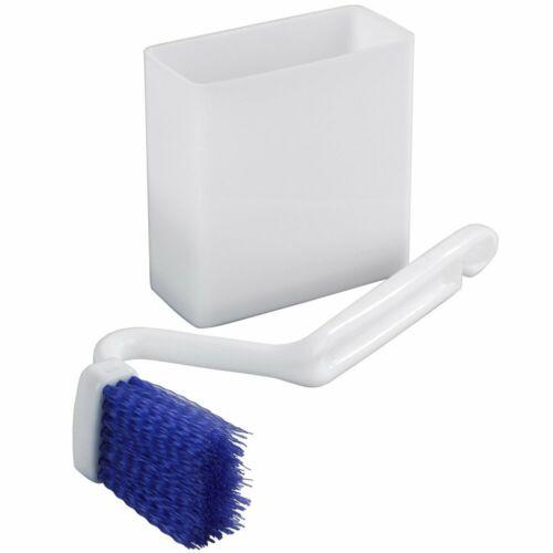 Winkelbürste für WC-Reinigung und Behälter mit Saugnäpfen Wandgarnitur aus Kuns