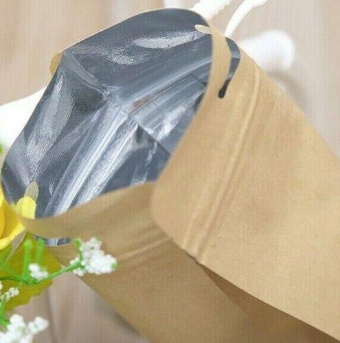 Free Standing Kraft Paper Bag Zip Lock Heat Seal Foil Food Grade Packaging