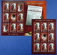 Rumanía Romania 2012 Caragiale escritor literatura 6595 Klein arco I + II