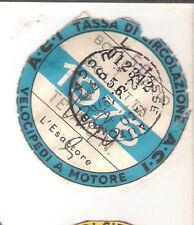 ANNO 1976 VECCHIO BOLLO ACI AUTO TASSA DI CIRCOLAZIONE MOTO MOTOCICLI VESPA 02