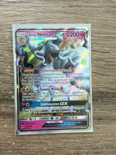 Alolan Ninetales GX Ultra Rare Mint-NM Pokemon TCG Lost Thunder
