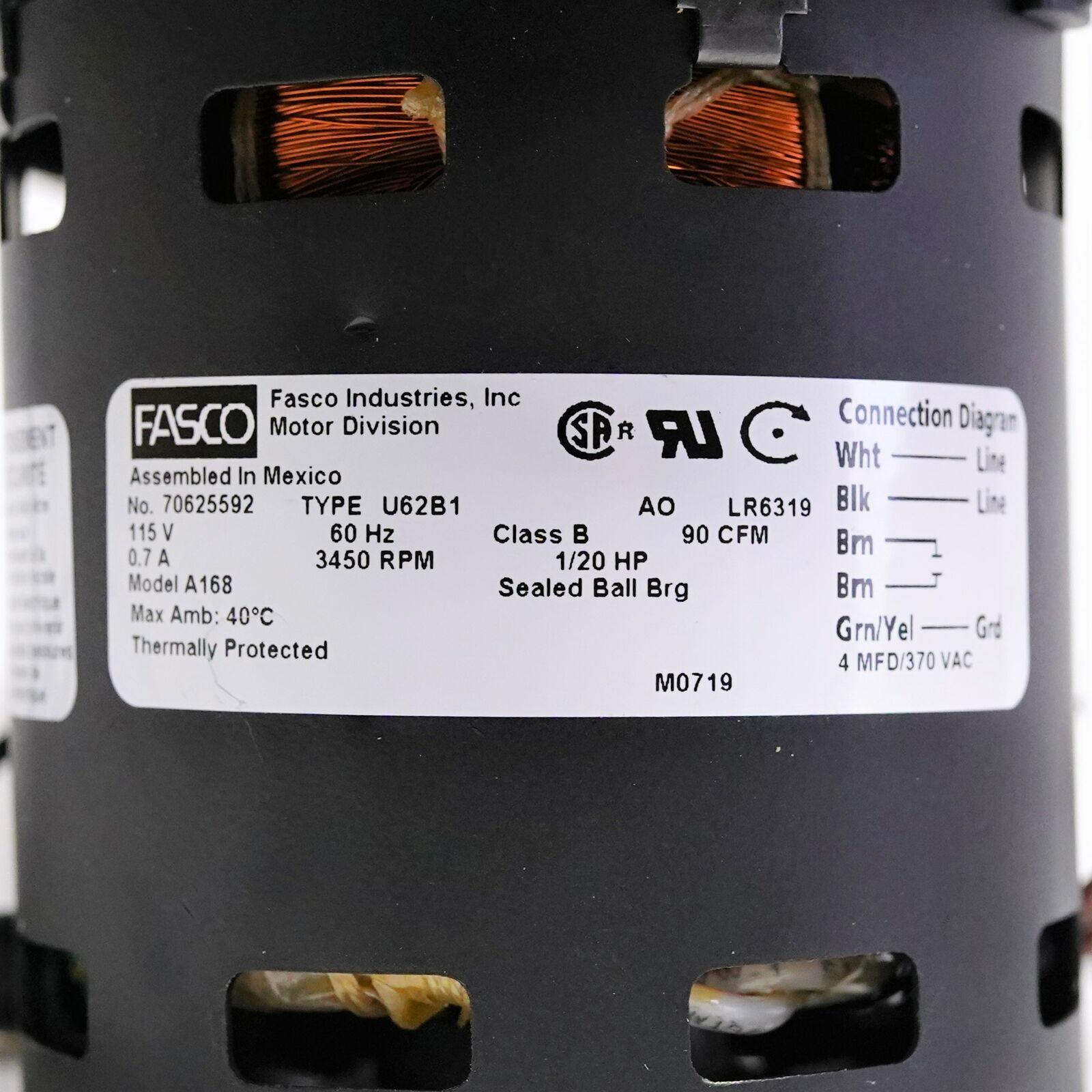 Fasco A168 115 Volt 3300 Rpm Furnace Draft Inducer Blower For Sale Online Ebay