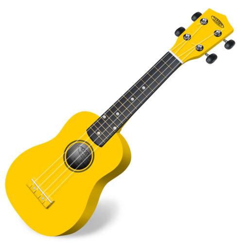Classic Cantabile US-100 Ukulele Holz Hawaii Gitarre Uke Sopran Mensur Gelb
