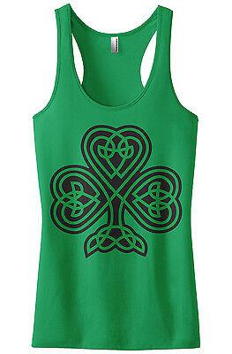 Threadrock Women/'s Celtic Shamrock Racerback Tank Top Irish Pride St Patrick/'s