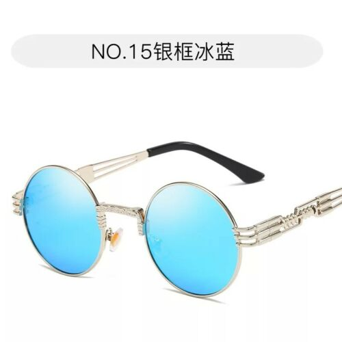 Vintage Polarized Steampunk Sunglasses Goggles Round Mirrored Retro Punk Glasses