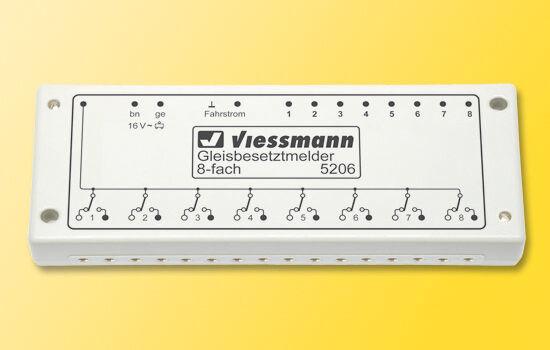 Viessmann 5206 gleisbesetztmelder, 8 veces mercancía nueva