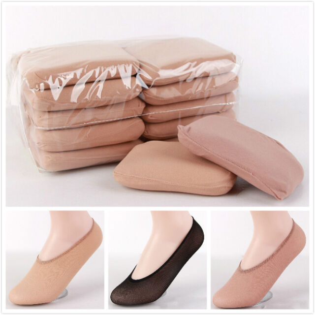 10 Pairs Ladies Women Antiskid Invisible Liner No Show Cotton Ped Low Cut Socks