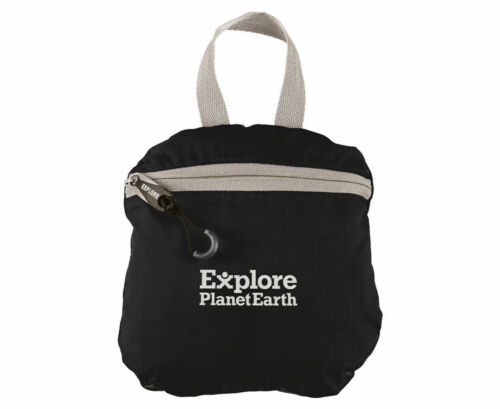 NEW Explore Planet Earth Comet Packable Back Pack 18L Black