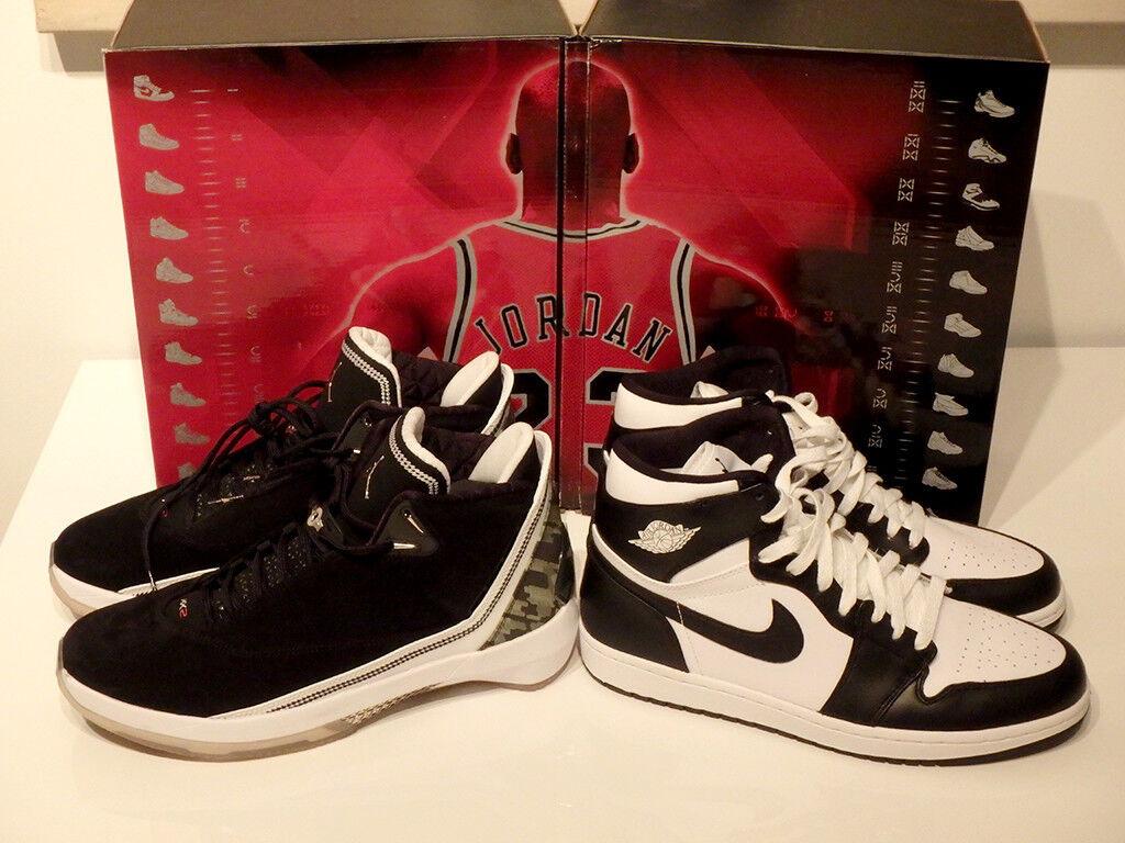 Nike Air Jordan I und XXII - Größe Collezione Countdown Pack, DS, Größe - 44.5, weiß 7e38f7