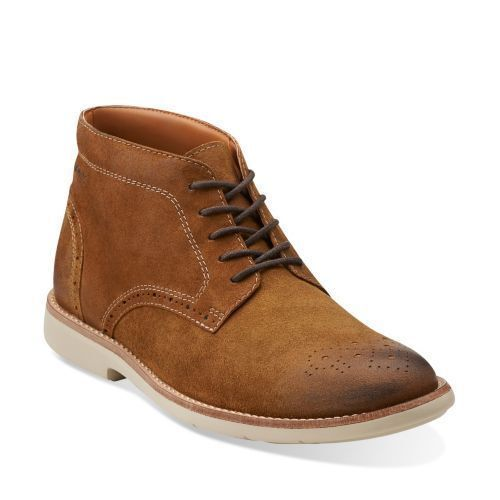 Clarks  Mens  RASPIN LIMIT   TOBACCO or  TAUPE SUEDE  UK 6.5,7.5,9.5,10.5