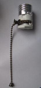 Porcelain Pull Chain Lamp Light Socket Interior W Antique
