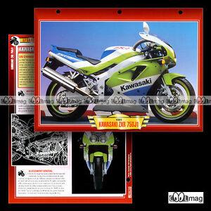 101-02-Fiche-Moto-KAWASAKI-ZXR-750-J1-1991-Sport-Bike-Motorcycle-Card