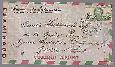 1943 Perote Veracruz Mexico German  Prisoner nternment Camp Dual Censored Cover