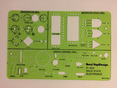 General Traffic Symbols R-130 Berol Rapidesign Template