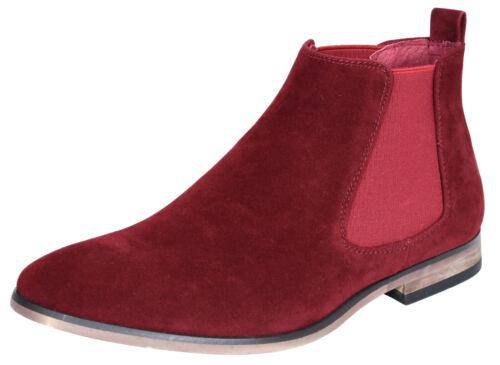 Mens Italian Suede Chelsea Ankle Boots Smart Casual Desert Dealer Slip On