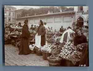 Germany-Koblenz-Scene-at-the-Market-Vintage-citrate-print-Vintage-Germany