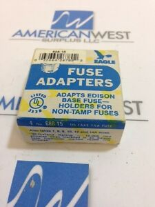 eagle fuse adapters 686 15 type s 7 to 15 amp box of 4 new surplus rh ebay com Fuse Adapter Auto Glass House Fuse