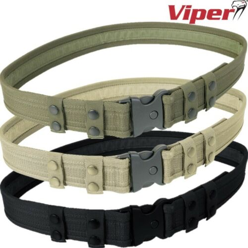 """VIPER SECURITY BELT MILITARY MENS 30-44/"""" QUICK RELEASE BUCKLE TACTICAL SPORTS"""