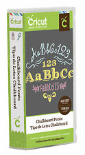 Cricut Cartridge - Chalkboard Fonts 3 Fonts, Shadows, Flourishes, Words