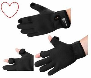 Fishing-Black-Neoprene-Gloves-Shooting-Pro-Climate
