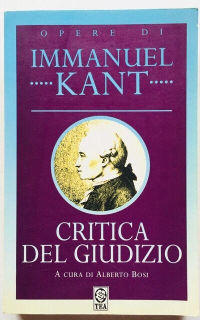 Immanuel Kant Critica del Giudizio Tea 1995 Tascabile Filosofia Alberto Bosi