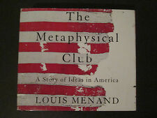 The Metaphysical Club, A Story of Ideas in America, Louis Menand, Audio Book CDs