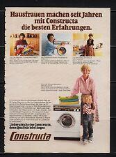 3w657/ Alte Reklame - von 1979 - CONSTRUCTA Waschmaschinen
